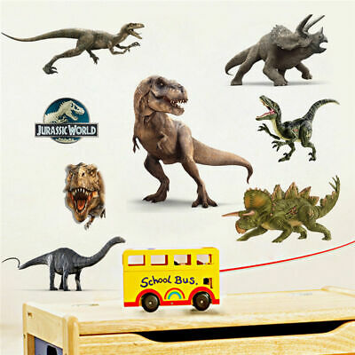 Jurassic World Dinosaur T- Rex Wall Sticker Boys Nursery Decor Removable Decal