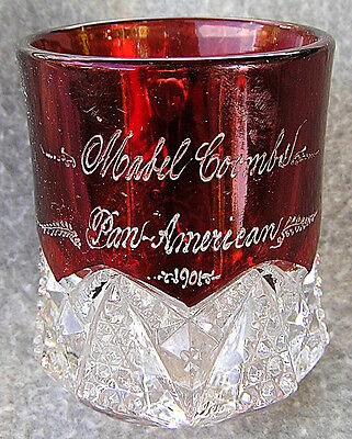 Pan American Exposition 1901 Ruby Flash Glass Vintage