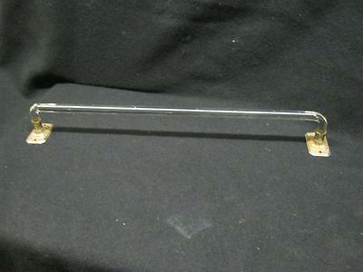 "Vintage Deco Bent Glass Towel Bar 18"" for Kitchen or Bathroom 2282-13"