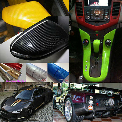 4D GLOSS Carbon Fibre Vinyl Wrap Textured 【1.52m wide X running meter】AIR Free