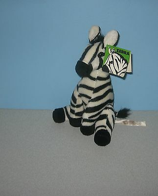 "1991 Applause Mountain Zebra 8"" Stuffed Plush Girl Scouts ABC Exclusive"
