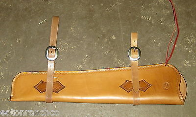 Rifle Scabbard for Saddle Leather Maker Marked Handmade Light Oil Deluxe 30 30
