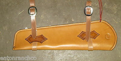 Deluxe Rifle Scabbard for Saddle Leather Maker Marked Handmade 30.30 Mares Leg