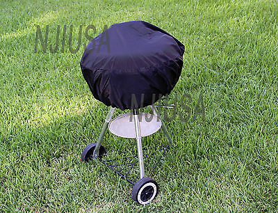 "Round Charcoal Kettle BBQ Grill 17"" - 22"" Diameter EZ Use Cover w/ Drawstring"