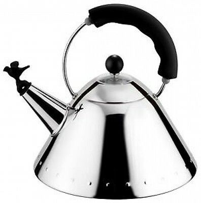 ALESSI MICHAEL GRAVES KETTLE BLACK HANDLE (9093B) - NEW
