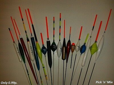 Rizov Pole Fishing Floats 18 Models - Only 0.99 Per Piece - New Box Over 9 Pcs.