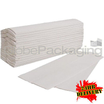 Case Of 2400 White 2 Ply C-Fold Paper Hand Towels 24Hr