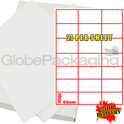 600 Sheets Of Printer Address Labels 21 Per Sheet Page