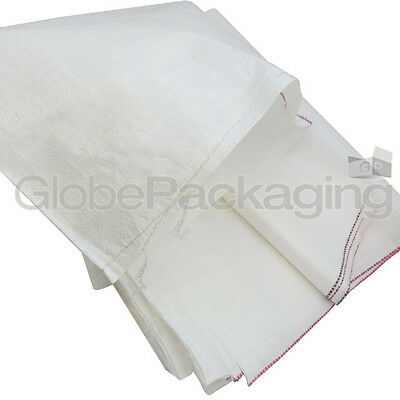 10 WOVEN POLYPROPYLENE RUBBLE BUILDER SACKS BAGS 22x36""