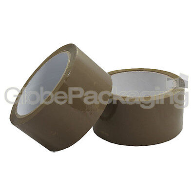 12 ROLLS OF BUFF BROWN PACKING PARCEL TAPE 48mm x 66M
