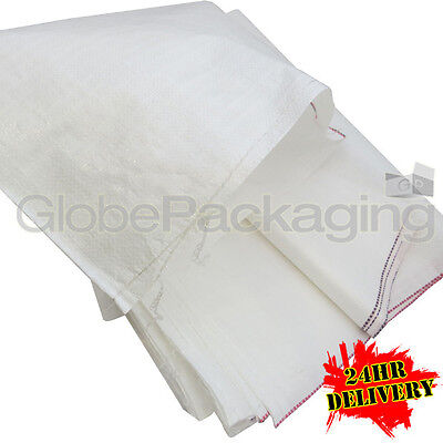100 x WOVEN POLYPROP RUBBLE BUILDER SACKS BAGS 22x36""
