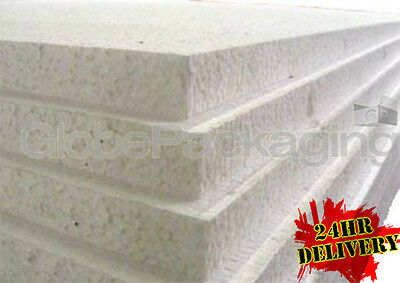 "6 x EXPANDED 2"" POLYSTYRENE FOAM SHEETS 2400x1200x50mm"