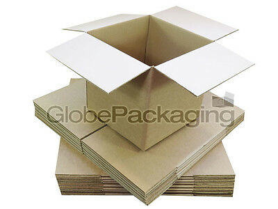 "20 x SMALL MAILING PACKING CARDBOARD BOXES 4x4x4"" CUBE"