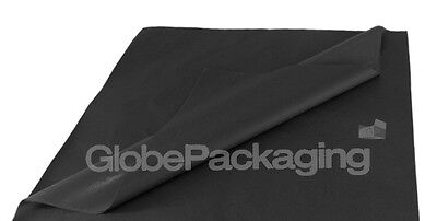 250 SHEETS OF BLACK COLOURED ACID FREE TISSUE PAPER 500mm x 750mm *HIGH QUALITY*