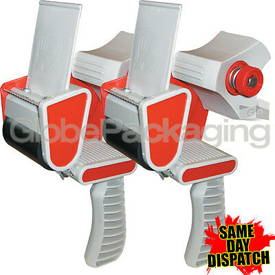 "2 HEAVY DUTY BOX PACKING TAPE GUNS DISPENSERS 50mm (2"")"