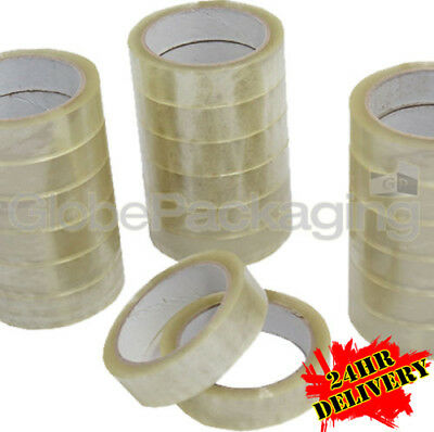 """72 Rolls Clear Packing Tape 25mm 1"""" x 66M High Quality"""