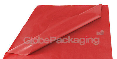 100 SHEETS OF RED COLOURED ACID FREE TISSUE PAPER 375mm x 500mm *HIGH QUALITY*