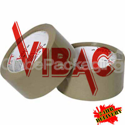 144 Rolls Of VIBAC X-Strong Brown Buff Packing Tape 66m