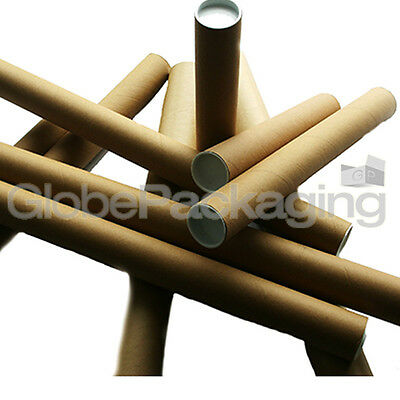 "20 x A2 POSTAL TUBES ROLLS 460mm x 45mm (18"") +END CAPS"