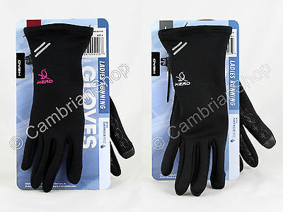 Head Ladies Winter Sports Running Gloves with Sensatec iPhone Touchscreen