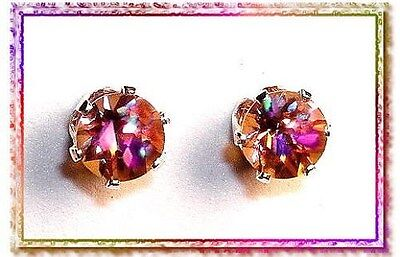 Twilight Topaz - Matched Set of 2 Checkerboard Cut 6mm Rounds - 2.20 ctw
