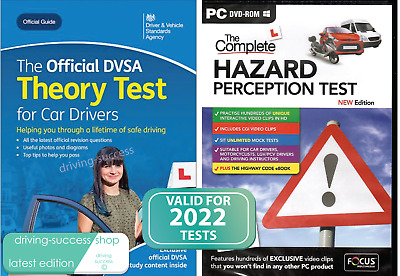 2017/18 DVSA Driving Car Theory Test Book - and Latest Hazard Perception DVD-ROM