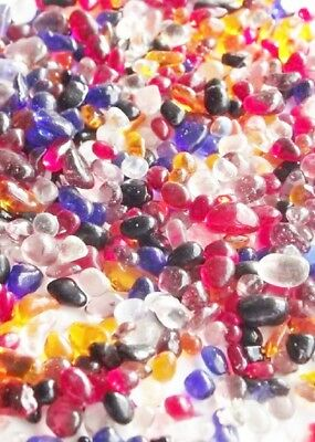 Glass Mini Pebbles 3-6mm Mixed Colours Various Weights Mosaic  Wedding Crafts