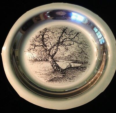 """1972 FRANKLIN MINT STERLING PLATE BY JAMES WYETH """"Along the Brandywine"""""""