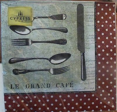 20Cutlery Knife Fork Spoon Napkins3ply VINTAGE FRENCH Paper Serviettes Victorian