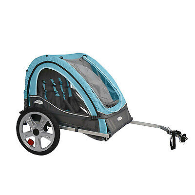 NEW InSTEP QE127 Take 2 Double Bicycle Bike Baby Pet Trailer Folding Frame