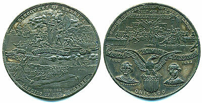 USA Medaille Expo Colombiana 1892 in Chicago
