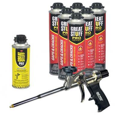 Dow Great Stuff PRO Gaps and Cracks 24 oz cans + PRO Foam gun + Dow Foam cleaner