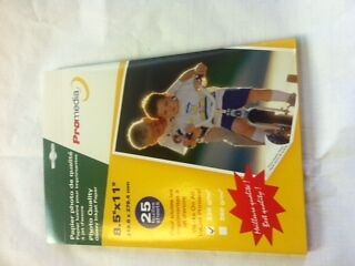 """1 pk 25 sheets 8.5"""" x 11"""" Photo Quality Glossy Inkjet Paper for Photos Pictures"""