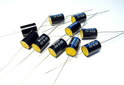 10x Capacitor 0.047uF 47nF 5% 630V DC Polypropylene Axial Valve Metal Film
