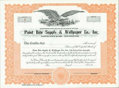 Paint Rite Supply & Wallpaper Co., Inc. Stock