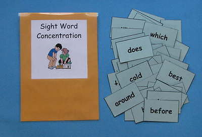 Teacher Made Literacy Center Resource Game Sight Word Concentration