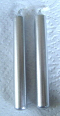 2 x SILVER  SPELL WORK CANDLES  -  10cm -  Wicca Witch Pagan Goth CHIME CANDLES