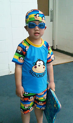 KIDS BABY BOYS TODDLERS SUIT SWIMWEAR SWIMMING COSTUME Size 2-5 SMK02