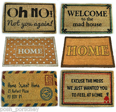Quality Large Heavy Duty Welcome Coir Rubber Outside Entrance Front Door Mat