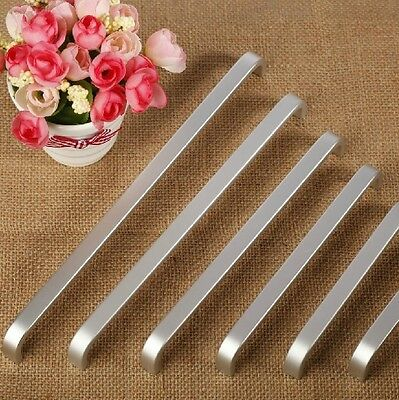 Aluminium Solid Modern Cabinet Cupboard Kitchen Door Drawer Pulls Handle MBS002