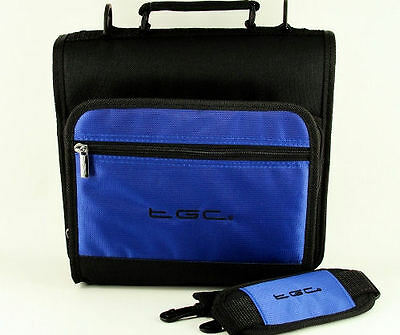 """Blue & Black Carry Case Bag for Philips PD7030/05 18cm/7"""" Portable DVD Player"""
