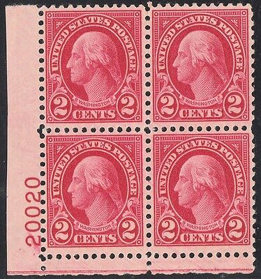 #634b PLATE # BLOCK OF 4 VF-XF OG NH WITH PF CERT WL4200 RMA