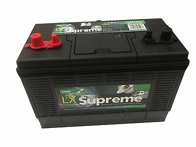 12V 105AH LUCAS LX31 Leisure Marine Deep Cycle Battery Motorhome Caravan Boat