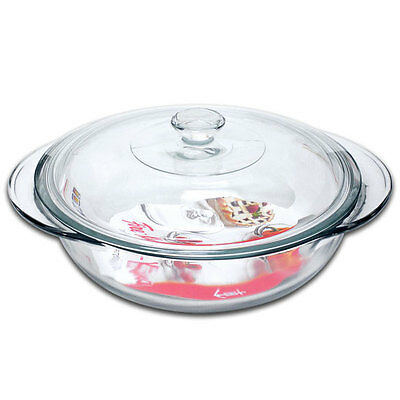 Anchor Hocking Large Round Glass Ovenware Casserole Dish With Lid