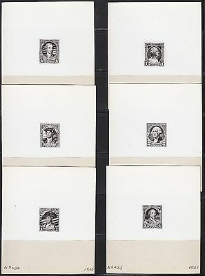 #704-715 Washington Bi-Cent. Issue B.e.p. Photo Die Proofs From Archives Wl4266