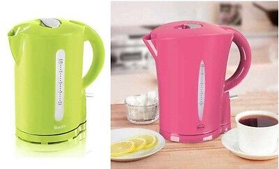 New Swan Quality 1.7 Litre Electric Cordless Coloured Tea Coffee Water Kettle