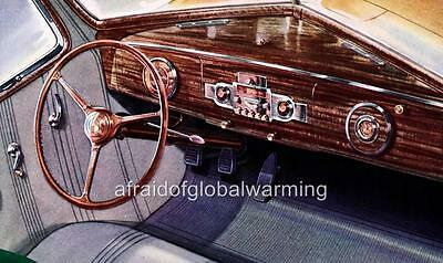 Old Print.  1939 Hudson Automobile One-Twelve Dashboard