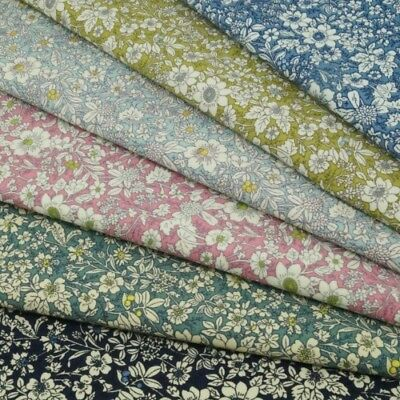 100% Cotton Poplin Fabric Rose & Hubble Floral Ditsy Petal Flowers
