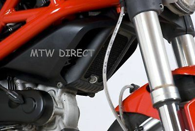 R&g Racing Black Oil Cooler Guard Ducati Monster 1100 2009 Model