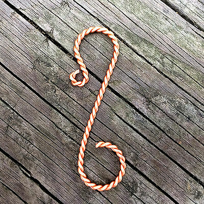"Twisted Copper Ornament Hooks, 2"" length"
